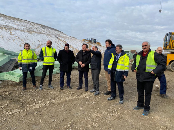 Turkish State Railways, General Director, Mr. Ali İhsan UYGUN visited the Construction of Çerkezköy-Kapıkule Section of Halkalı-Kapıkule Railway Line Project