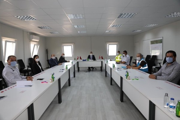 Governor of Kırklareli Mr. Osman Bilgin has Visited the Construction of Çerkezkoy-Kapikule Section of Halkali-Kapikule Railway Line Project